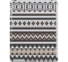 Scandinavian knitted pattern  iPad Case/Skin