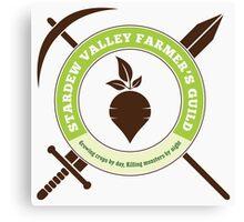 Stardew Valley Farmer's Guild Crest Canvas Print