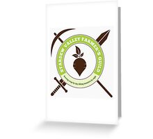 Stardew Valley Farmer's Guild Crest Greeting Card