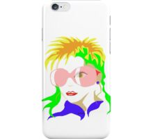 Fashion Girl with sunglasses iPhone Case/Skin