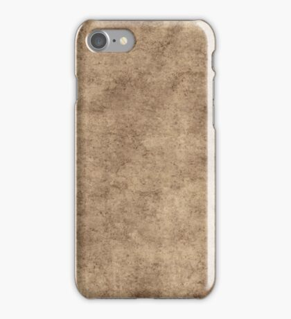 Vintage Brown Gray Parchment Paper Textured Background iPhone Case/Skin