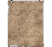 Vintage Brown Gray Parchment Paper Textured Background iPad Case/Skin