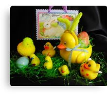 Easter With Mom, the Kids and a Cousin Canvas Print