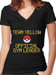 Team Yellow - Official Pokemon Gym Leader Women's Fitted V-Neck T-Shirt
