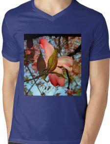 Backlit Dogwood Mens V-Neck T-Shirt