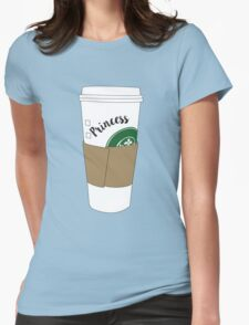 Princess Coffee Womens Fitted T-Shirt