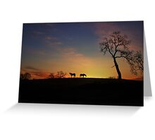 Horse Country Sunrise Greeting Card