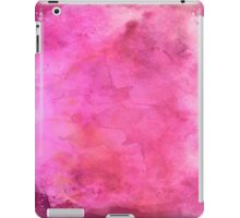Pink Watercolor Paper Background Texture iPad Case/Skin
