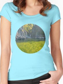 Teletskoye lake. Altai. Russia Women's Fitted Scoop T-Shirt