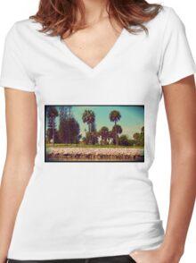 VEntAge Summer Camp Women's Fitted V-Neck T-Shirt