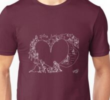 Wrapped in the arms of His love Unisex T-Shirt