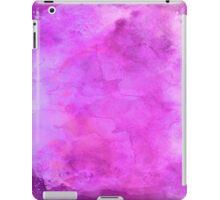 Purple Blue Violet Watercolor Paper Background Texture iPad Case/Skin