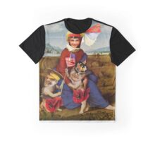 Madonna in Poppy Field. Graphic T-Shirt
