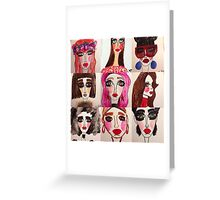 Fashion Doll Montage Greeting Card