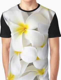 White Plumeria Tropical Frangipani Flowers Graphic T-Shirt