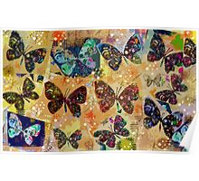 Butterflies in Spring Snowstorm Poster
