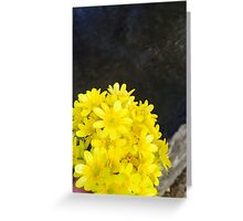 Yellow Flower Bouquet  Greeting Card