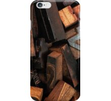 Letterpress printing iPhone Case/Skin