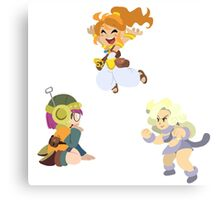 Chrono Trigger Girls Canvas Print