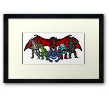 Brink Of Armageddon Giant Monsters Framed Print