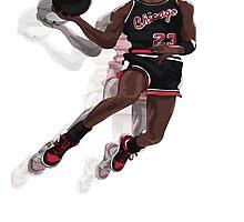 "Jumpman ""23"" Black (@AkaiTheDesigner) Photographic Print"