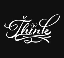 Think (white font) Kids Tee
