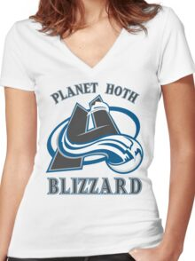 Planet Hoth Blizzard Women's Fitted V-Neck T-Shirt