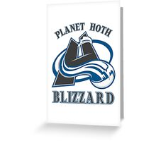 Planet Hoth Blizzard Greeting Card
