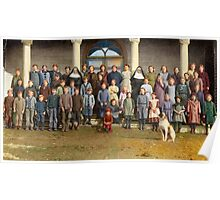 Colorized Students & faculty of a Catholic School 1920 Poster