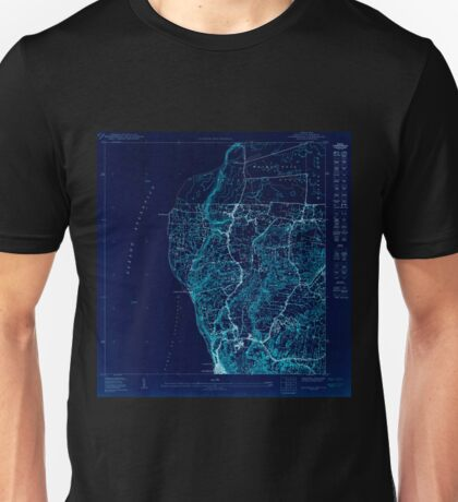 USGS TOPO Map Puerto Rico PR Aguadilla NE 361916 1950 10000 Inverted Unisex T-Shirt
