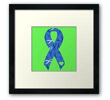 Blue Ribbon 2 Framed Print
