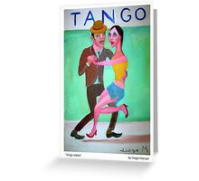Tango orillero by Diego Manuel Greeting Card