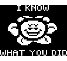 Flowey knows what you did Photographic Print