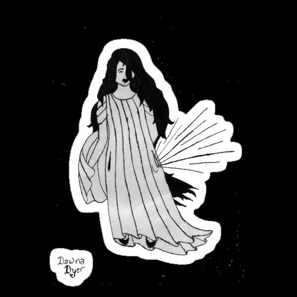 Shaena with moonbeams in her pocket by Dawna Morton