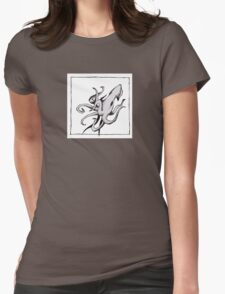 Graphic Squid Womens Fitted T-Shirt