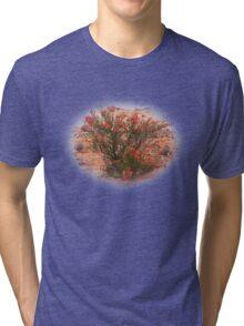 Red Wildflower Tri-blend T-Shirt