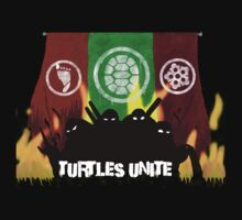 Turtles Unite - Artist Sarah Kids Tee