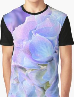 Purple Blue Hydrangeas Graphic T-Shirt