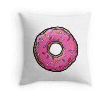 Sprinkled donut Throw Pillow