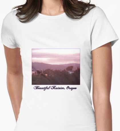 Sunrise Over the Columbia River #9 Womens Fitted T-Shirt