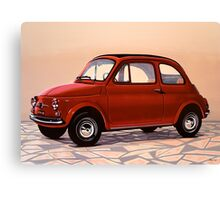 Fiat 500 Painting Canvas Print
