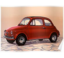 Fiat 500 Painting Poster