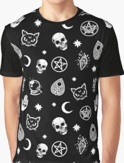 Witch Pattern Graphic T-Shirt