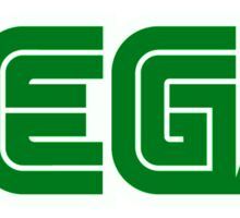 Green Sega Logo Sticker