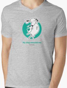 Tummy Rub Human Rescue Mens V-Neck T-Shirt
