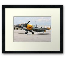 WWII German single emgine fighter ME-109 front view Framed Print