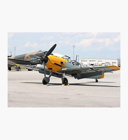 WWII German single emgine fighter ME-109 front view Photographic Print