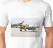 WWII German single emgine fighter ME-109 front view Unisex T-Shirt
