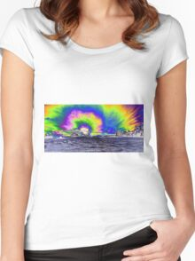 What a sunset!  Women's Fitted Scoop T-Shirt
