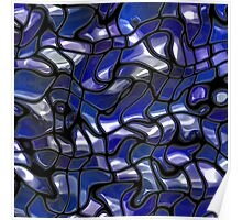 Abstract texture blue color Poster